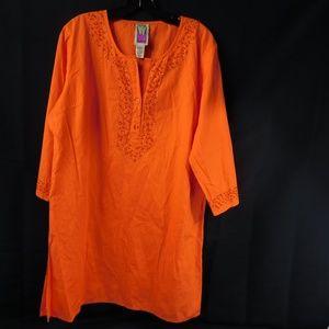 Original Anthony Orange Tunic Size Large
